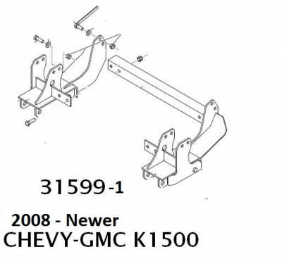 Western - Western UltraMount Kit 31599-1, 2007(New Body)-2016 GMC Chevrolet K1500