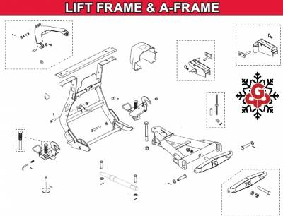 Western - Pro Plow Lift Frame & A-Frame Components