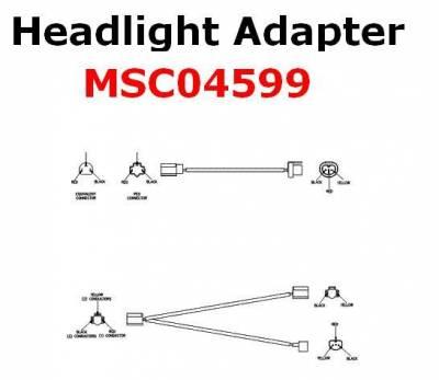 Boss - Boss Headlight Adapter MSC04599 2B Lights