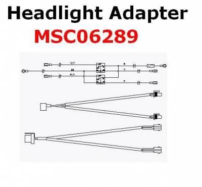 Boss - Boss Headlight Adapter MSC06289 HB3/HB4 Nissan
