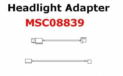 Boss - Boss Headlight Adapter MSC08839 H13 Lights