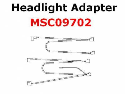 Boss - Boss Headlight Adapter MSC09702 H4 Lights