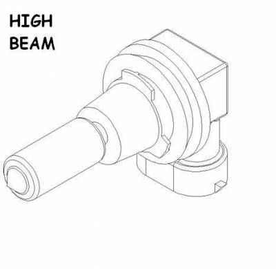 Boss - Boss High Beam Headlight Bulb MSC11107