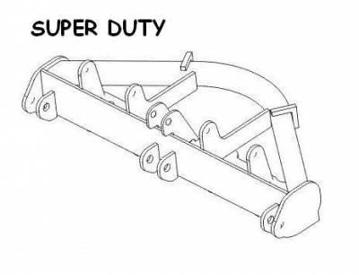 Boss - Boss Pushframe Attachment Bar Super Duty RT3  STB04180