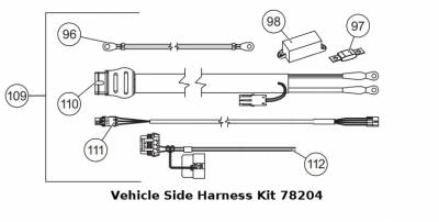 Western Tornado Spreaders - Western Tornado Non Fleet-Flex - Western - Western Tornado Vehicle Side Wiring Harness Kit 78204
