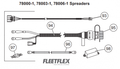 Western Tornado Spreaders - Western Tornado Fleet-Flex - Western - Western Tornado Fleet-Flex Vehicle Side Harness Kit 78402