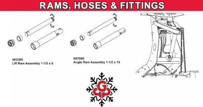 Western - Pro Plow Rams, Hoses & Fittings