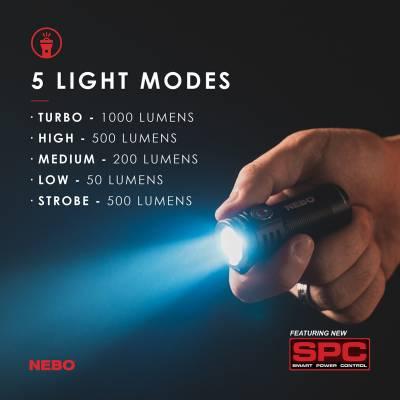 NEBO - NEBO TORCHY Rechargeable 1000 Lumens Flashlight - Image 2