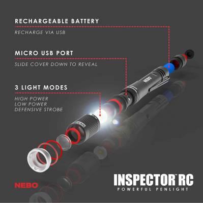 NEBO - NEBO INSPECTOR RC FLASHLIGHT 6810 - Image 2
