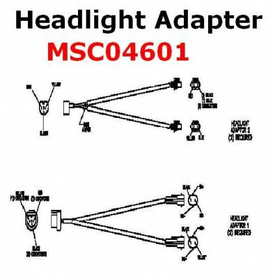 Boss Snowplow Parts - Boss Controllers & Electrical Parts - Boss - Boss Headlight Adapter MSC04601 HB3-HB4 Lights