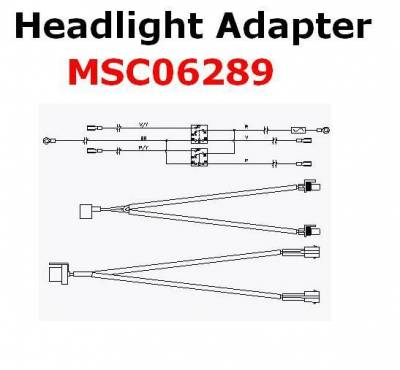 Boss - Boss Headlight Adapter MSC06289 HB3/HB4 Nissan