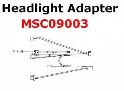 Boss - Boss Headlight Adapter MSC09003 H13 Lights