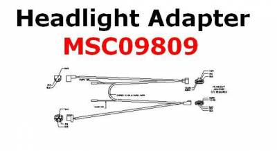 Boss - Boss Headlight Adapter MSC09809