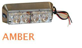 Emergency Lighting, Strobes, L.E.D.'s - Buyers - Buyers Rectangular L.E.D. Amber Strobe Light 8891004