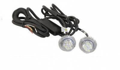 Emergency Lighting, Strobes, LED - Buyers - Buyers Dual LED Hidden Clear Strobe Light Kit