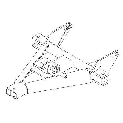 Boss Snowplow Parts - Boss Common Snowplow Parts - Boss - Boss Pushframe Assy RT3 Staight Blade STB04190
