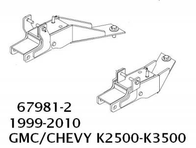 Western UltraMount Vehicle Mounts - Chevrolet/GMC Western UltraMounts - Western - Western UltraMount Kit 67981-2, 1999-2010 GMC & Chevrolet K2500-K3500